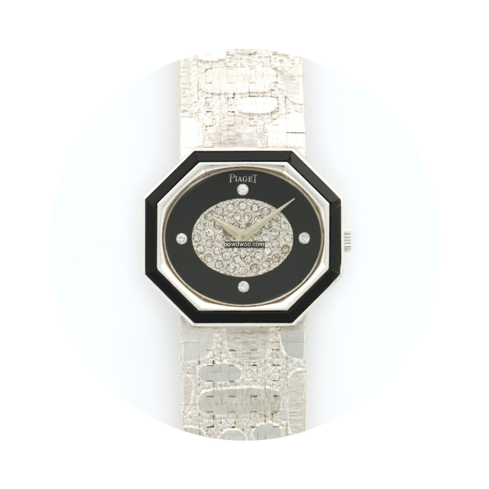Piaget White Gold Diamond & Onyx Watch...