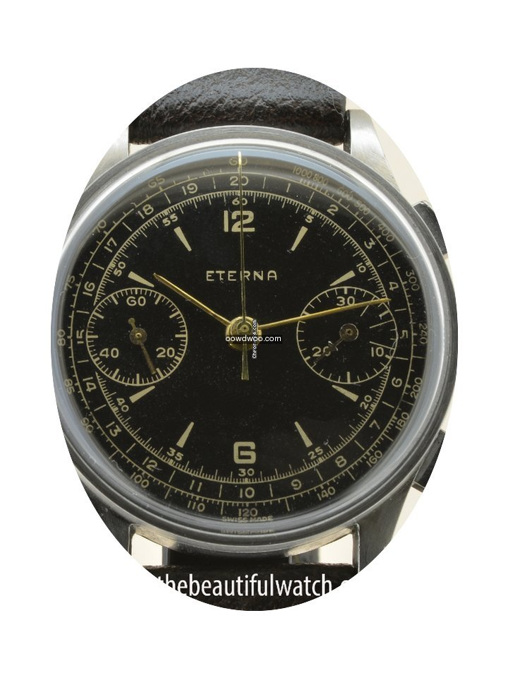 Eterna Chronographe Gilt dial from 40's...