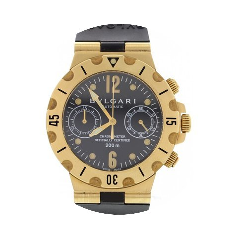 Bulgari Men's Scuba 18K Yellow Gold Watc...