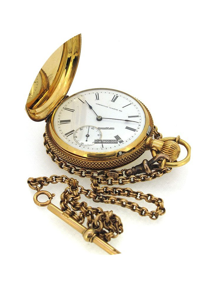 Waltham 18K Gold Pocket Watch, small sec...