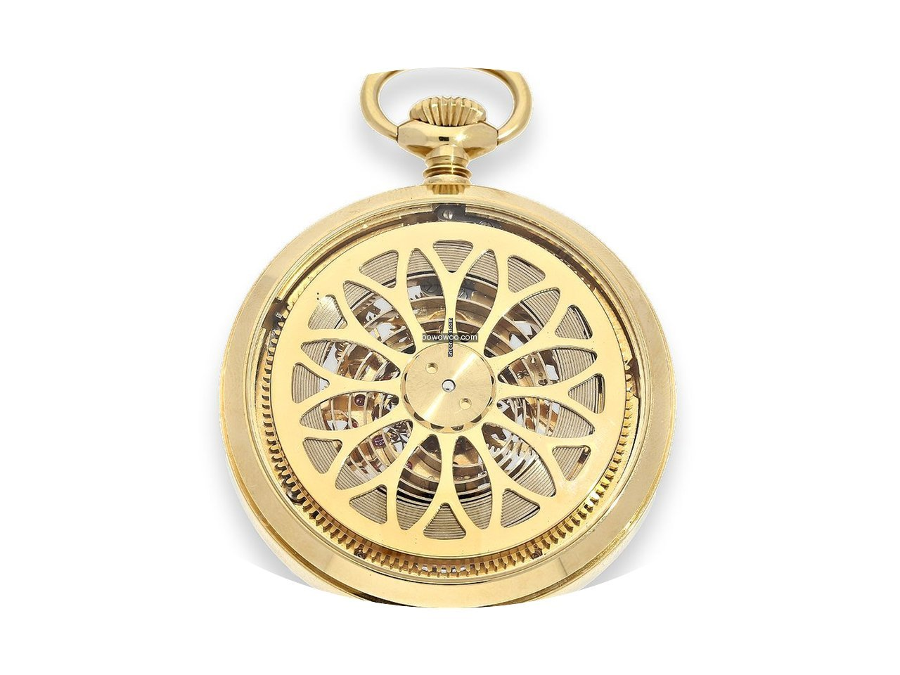 Hebdomas Pocket watch: rare skeletonized...