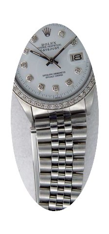Rolex Mens Datejust Stainless Steel 1601...