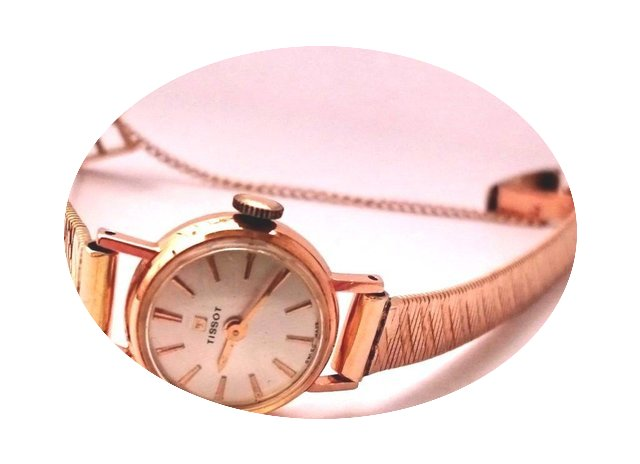 Tissot Vintage 14k Solid Gold Mechanical...