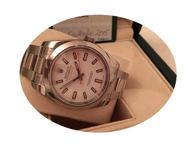 Rolex Oyster Perpetual Milgauss Steel Wh...