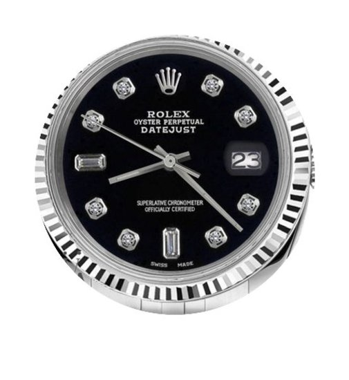 Rolex Man`s Rolex 36mm Datejust Black Co...