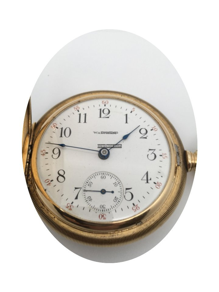 Waltham Pocket Watch 14 Kt...