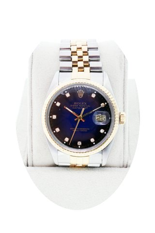 Rolex Datejust 16013 Two Tone Blue Diamo...