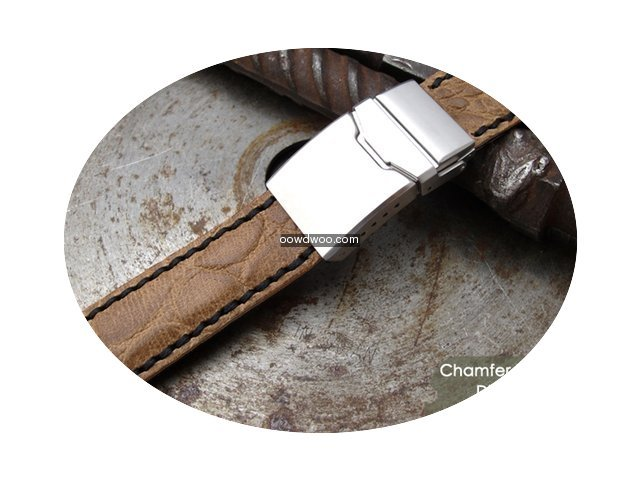 IWC 21mm Croco Grain Leather Replacement...