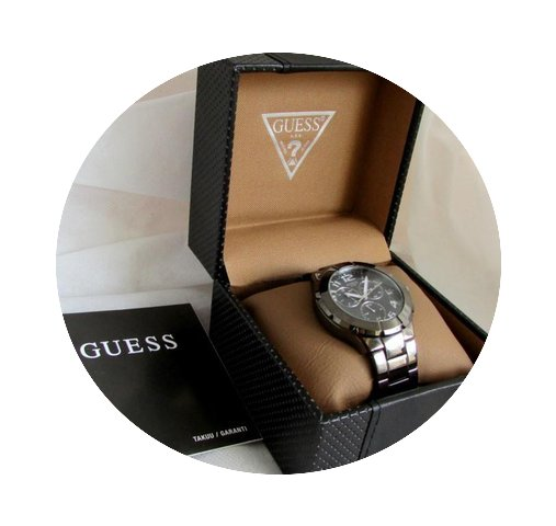 Guess BIG size, gunmetal, all original M...