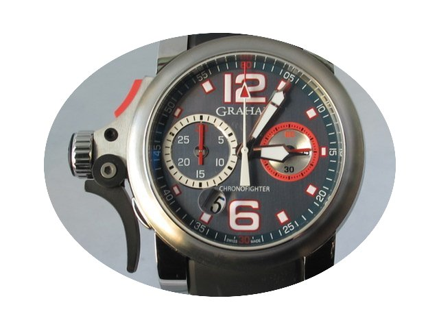 Graham Chronofighter Trigger Graphite Ru...