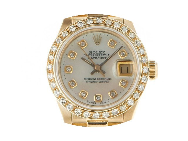 Rolex Datejust Lady Gelbgold Diamond Per...