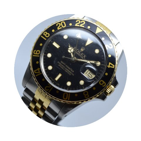 Rolex GMT Master 16753 Gold Steel Mint L...