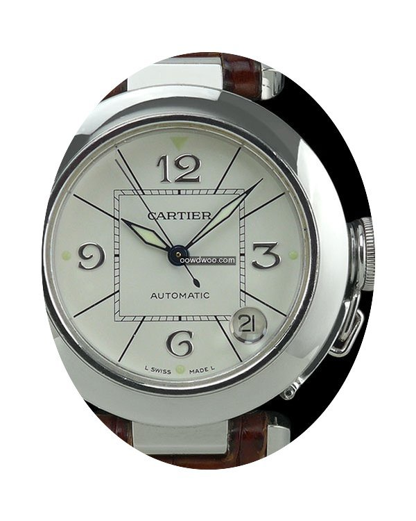 Cartier Pasha 18k White Gold Automatic 3...