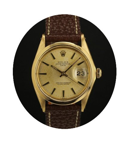 Rolex Date 1500 yellow gold 18k...