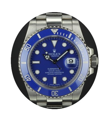 Rolex Submariner white gold 116619LB ful...