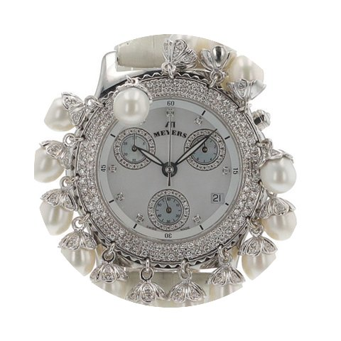 Meyers Lady Diamond Pearl Chronograph MO...
