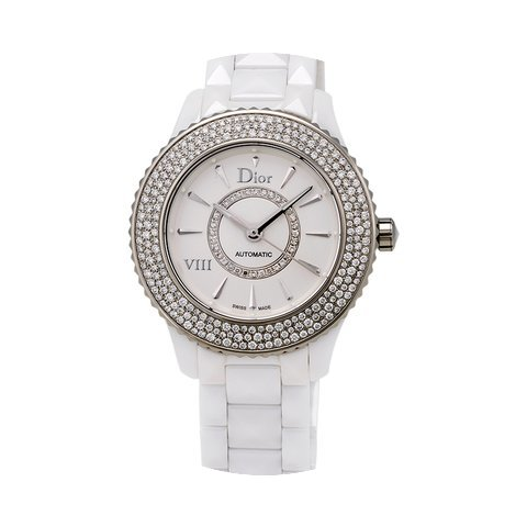 Dior VIII White Ceramic and Stainless St...