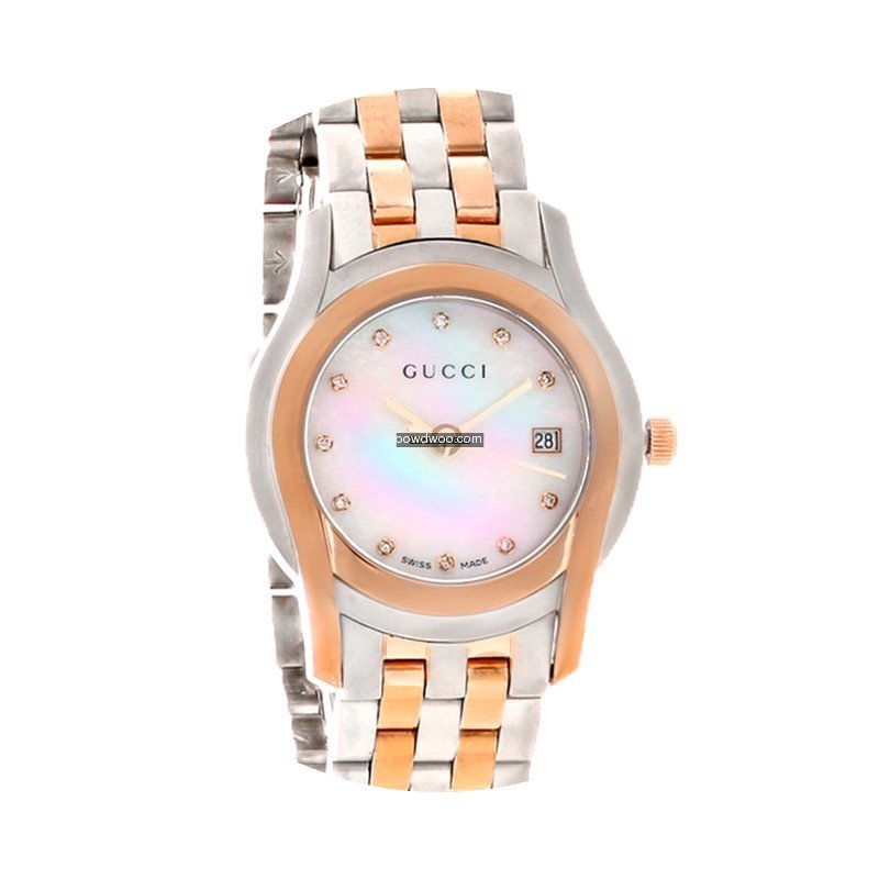 Gucci 5505 Series Ladies MOP Diamond Two...