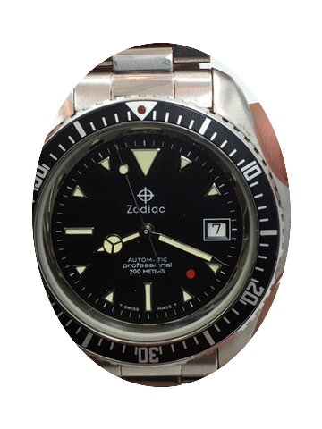 Zodiac New Old Stock Red Dot Automatic D...