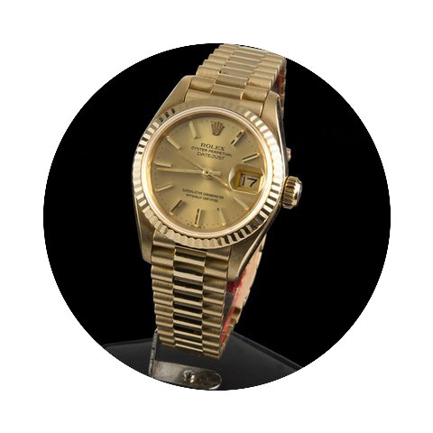 Rolex DATEJUST LADY PRESIDENT YELLOW GOL...