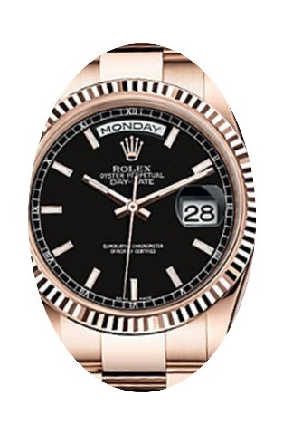 Rolex Day-Date 36 118235-BLKSO Black Ind...