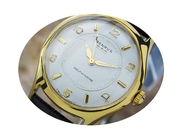 Benrus Model E6 135 Gold Plated Manual M...