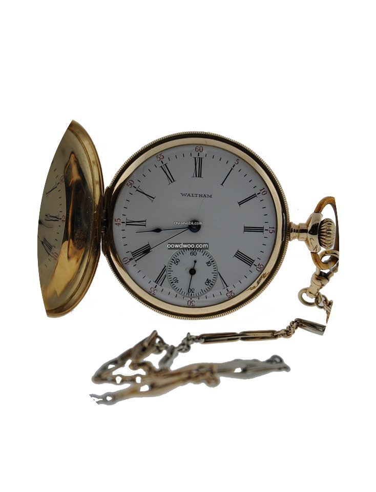 Waltham Classic Pocket Watch 14kt Yellow...
