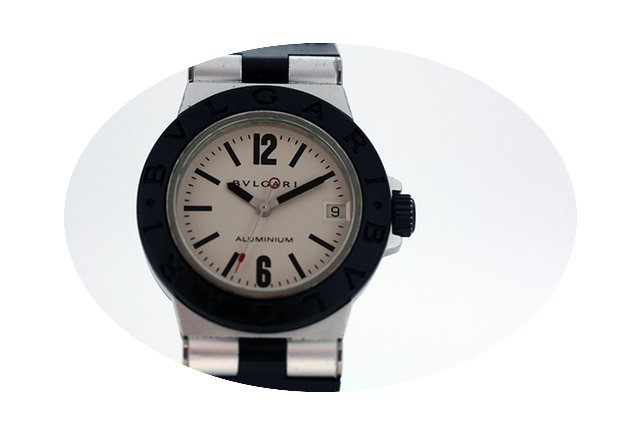 Bulgari Diagono aluminium quartz watch...