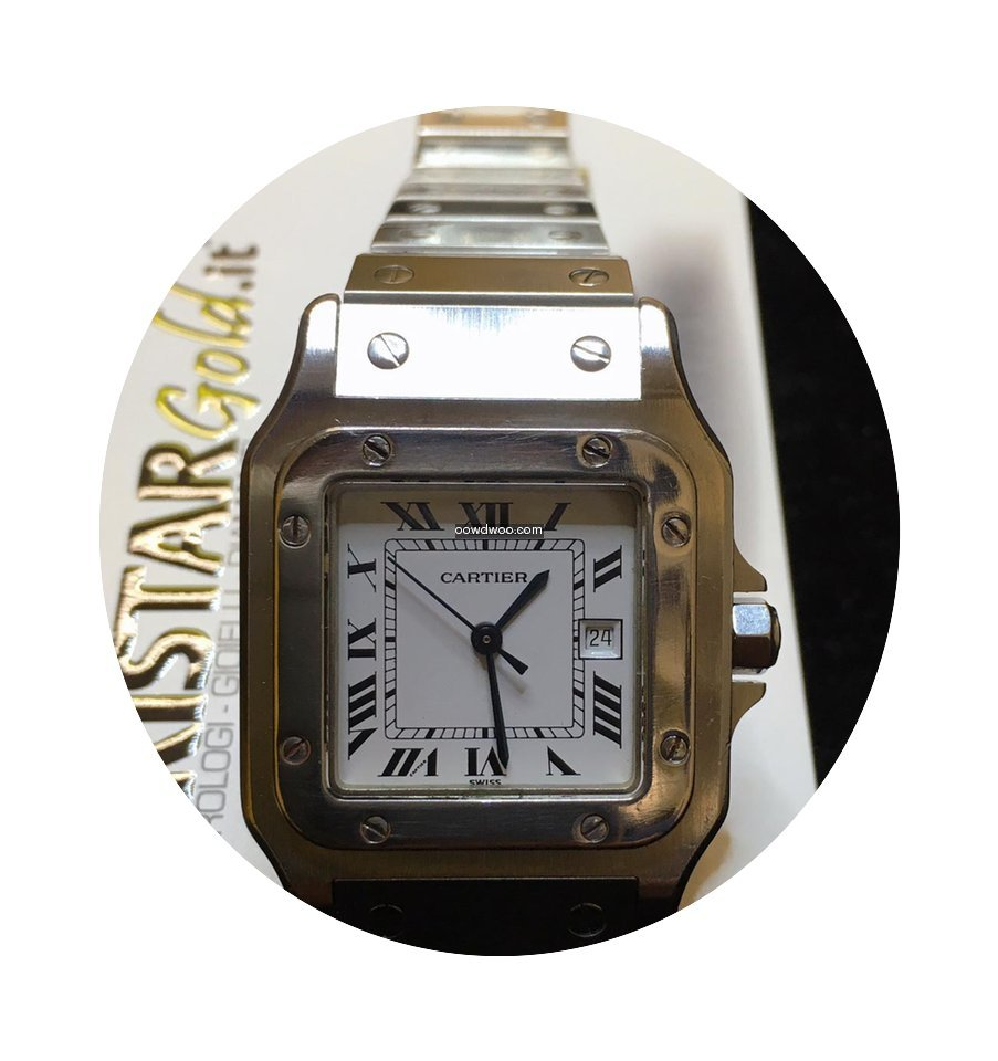 Cartier Santos Date Steel Dial Medium...