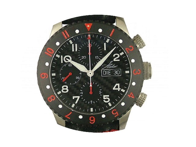 Hacher Atlantis Red Chronograph GMT Day ...