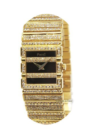 Piaget Ladies Polo 18k Yellow Gold Diamo...