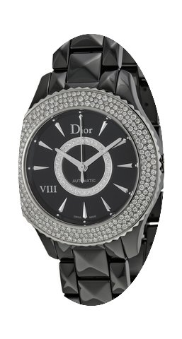 Dior VIII Black Dial Ceramic Ladies Watc...