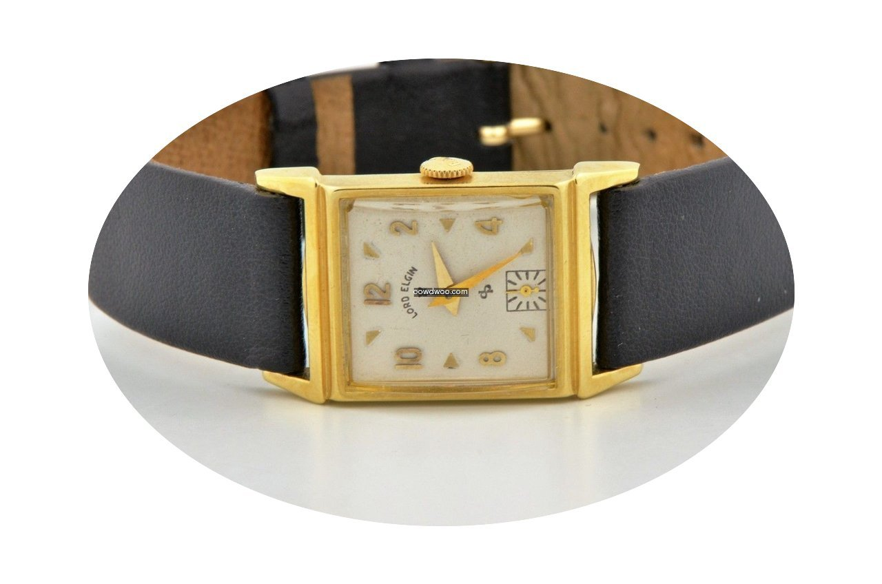 Elgin Solid 14k Yellow Gold Manual Wind ...