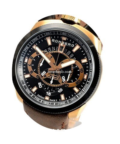 Bomberg Bolt-68 Night Black Gold Circola...