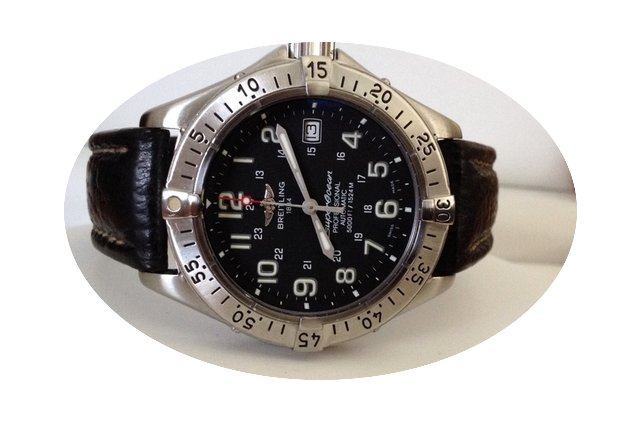 Breitling SuperOcean Steel Black Dial 40...