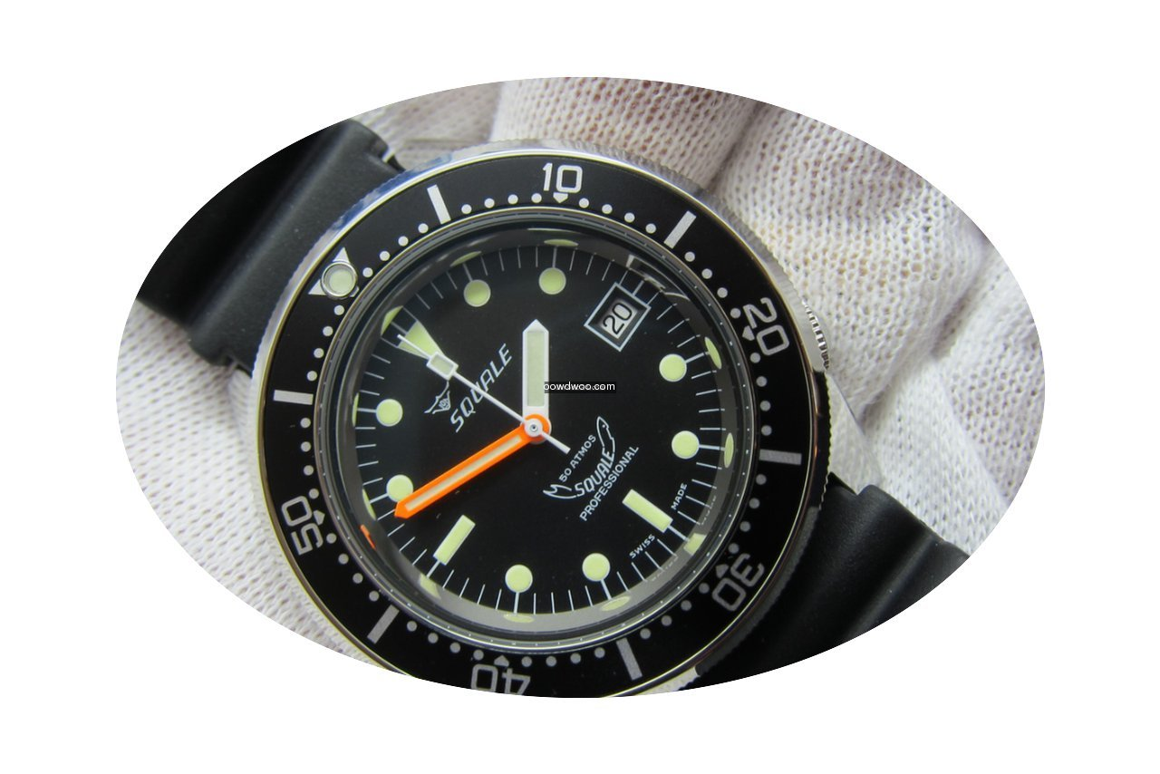 Squale Professional 1521 Blasted - Black...