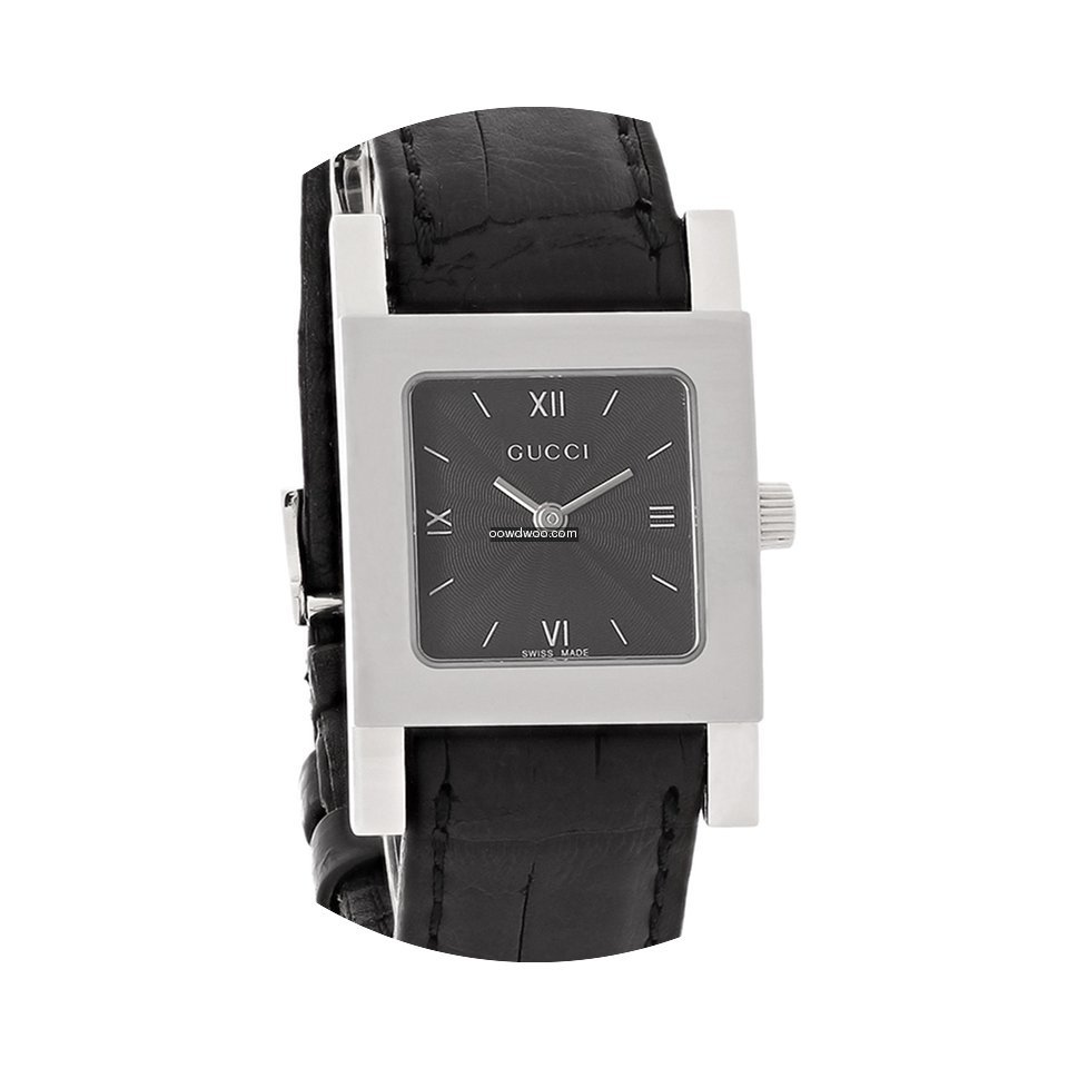 Gucci 7900 Series Ladies Black Leather S...