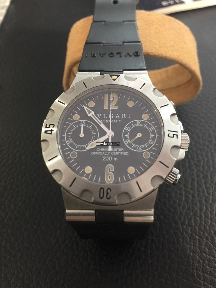 Bulgari Chronograph Scuba Full set 2 Bra...