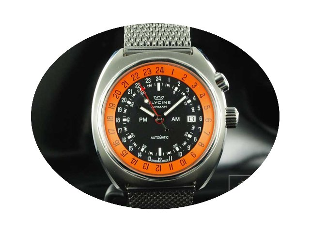 Glycine Airman SST 12 Watch GMT ETA 2893...