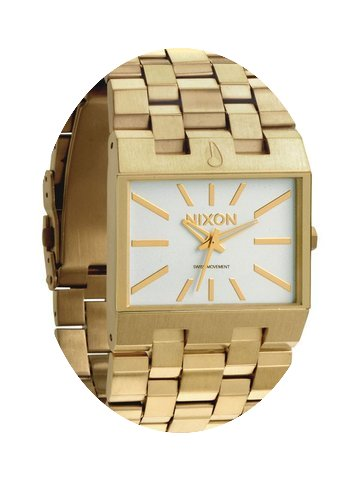 Nixon Ticket A085-504 All Gold White Her...