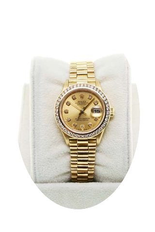 Rolex 18K YG Ladies Presidential 69178 D...