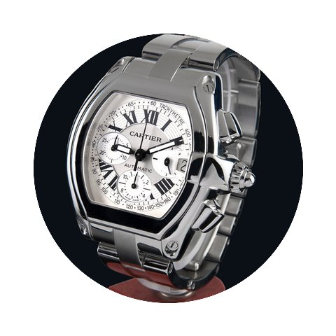 Cartier roadster steel chrono automatic ...