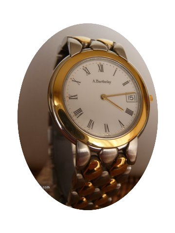 Barthelay dress watch steel and gold...
