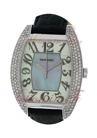 Tourneau Ladies Oval, Mother of Pearl Di...