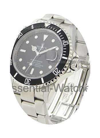Rolex Used Submariner Date 16610 No Hole...
