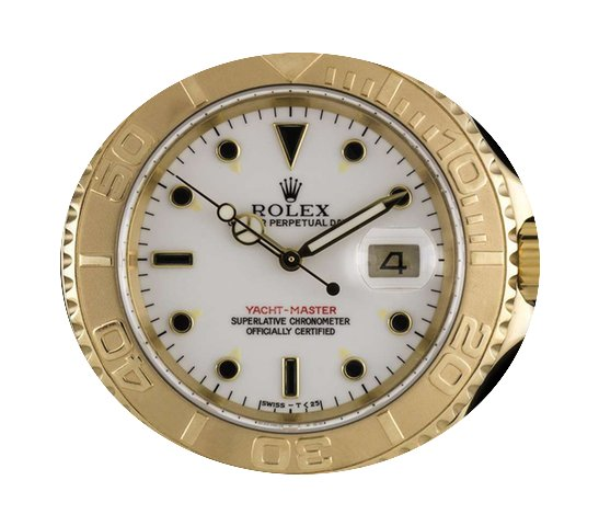 Rolex 18k Yellow Gold O/P White Dial Yac...