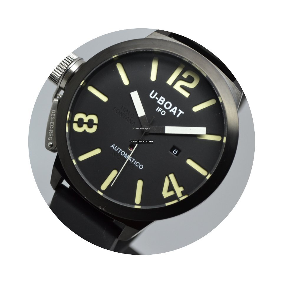 U-Boat Classico 53mm Left Hook IFO Black...