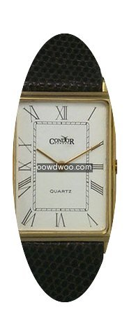 Condor 14kt Solid Gold Mens Swiss Strap ...