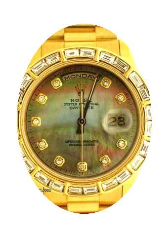 Rolex Mens President Gold Watch With Dia...
