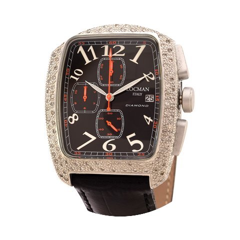 Locman Diamond Tonneau Chronograph Black...